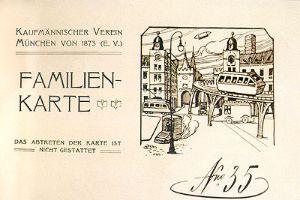 Eintrittskarte zum Faschingsball, 1904