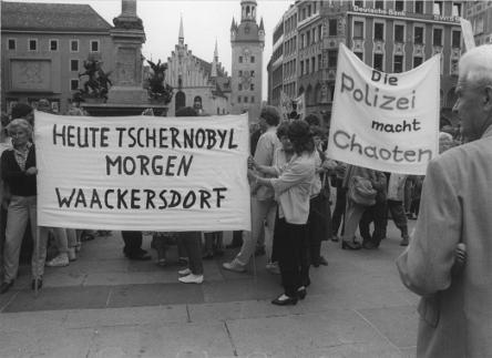 Proteste gegen die Wiederaufarbeitungsanlage Wackersdorf, 1986