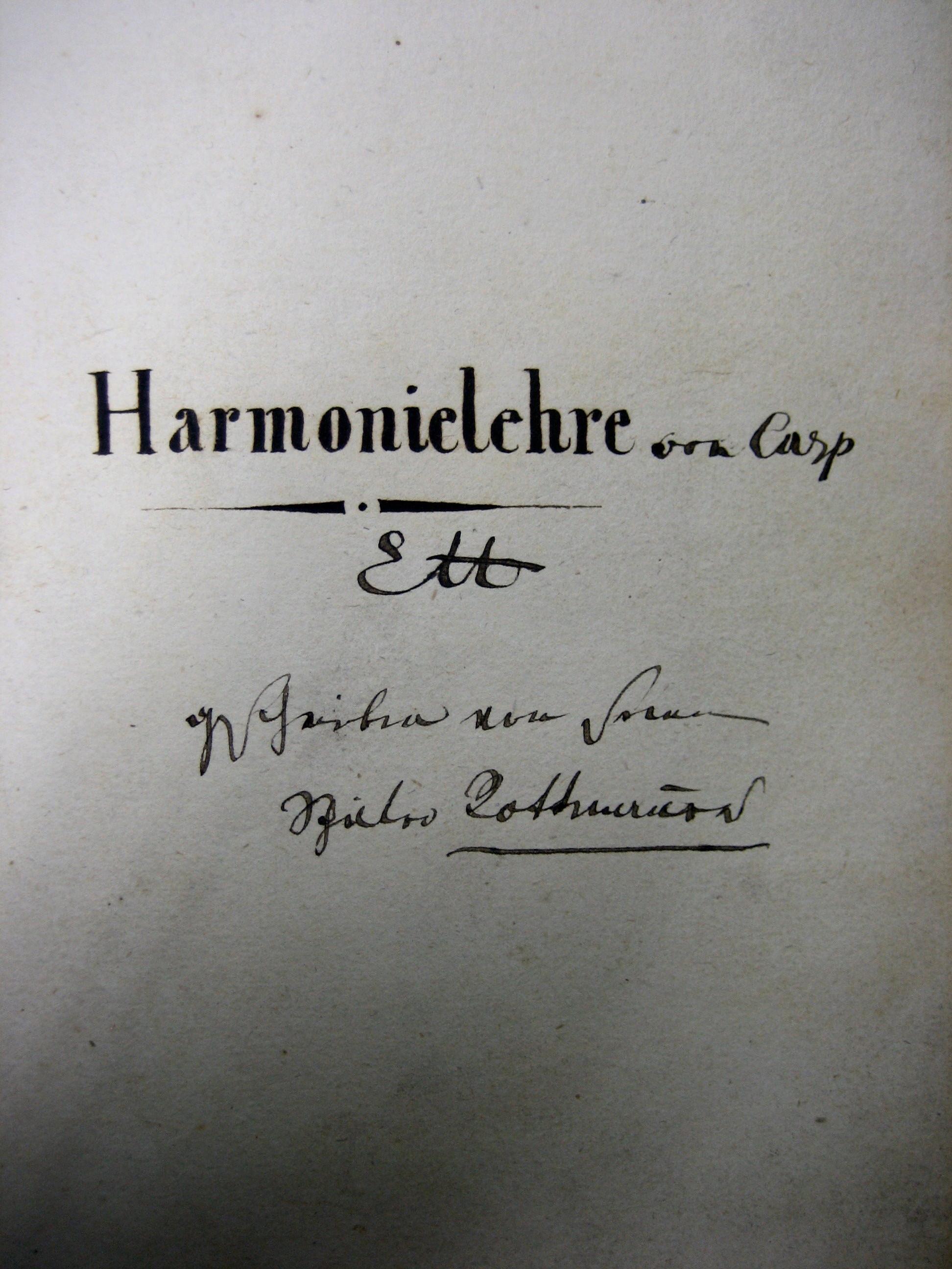 Harmonielehre von Caspar Ett