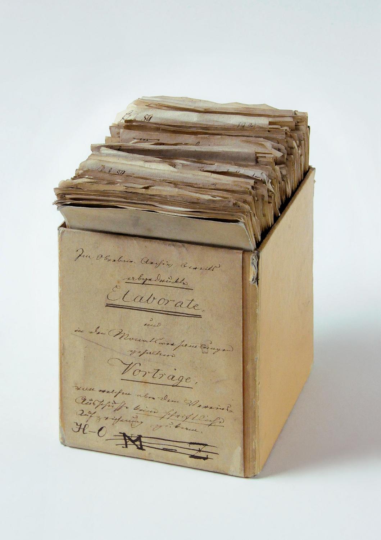 """Kartei der """"Elaborate"""", um 1840"""