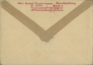 Post aus dem Konzentrationslager Sachsenhausen-Oranienburg, IfZArch, ED 531/2. Foto: IfZ-Archiv, Lizenz: CC BY-SA 3.0.