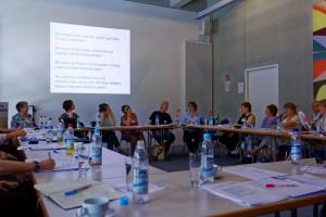 Am Vormittag tauschten sich  Expertinnen und Experten zum Stand der archivischen Überlieferung der Neuen Frauenbewegung aus. Foto: IfZ-Archiv/Alexander Markus Klotz. Alle Rechte vorbehalten.