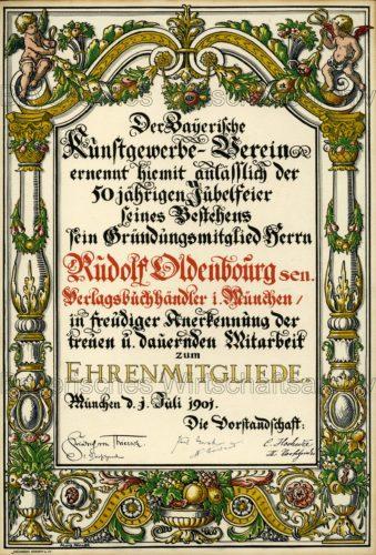 BWA-Oldenbourg-Urkunde