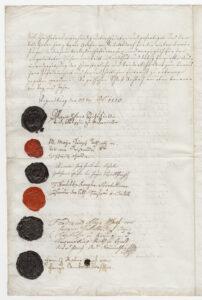 Unterschrift der Fürstäbtissin Maria Helena