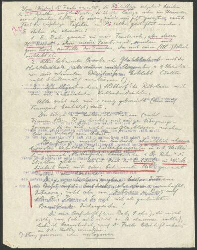Handschriftliche Anmerkungen auf einem Brief des Deutschen Museums mit Begutachtung der dort ausgestellten Röntgenrohre, ca. Mai 1924, Vorderseite (DMA, CD 66016). Blogparade #Deutungskämpfe