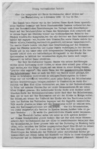 Gesprächsprotokoll Kardinal Faulhabers (EAM NL Faulhaber 8203); Foto: Archiv und Biblio-thek des Erzbistums München und Freising. Blogparade #Deutungskämpfe