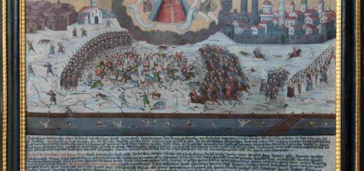 """Votivbild in der Pfarrkirche Egern mit Darstellung der """"Sendlinger Mordweihnacht"""", 1707; Fo-to: Pfarrei Egern (Christine Pfluger, Rottach-Egern). Blogparade #Deutungskämpfe"""