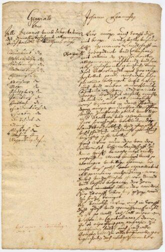 Rundschreiben des Freisinger Fürstbischofs Johann Franz Eckher, 23. Dezember 1705 (AEM R3641); Foto: Archiv und Bibliothek des Erzbistums München und Freising. Blogparade #Deutungskämpfe