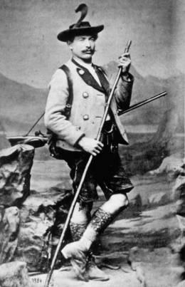Portrait des Wilderers Georg Jennerwein