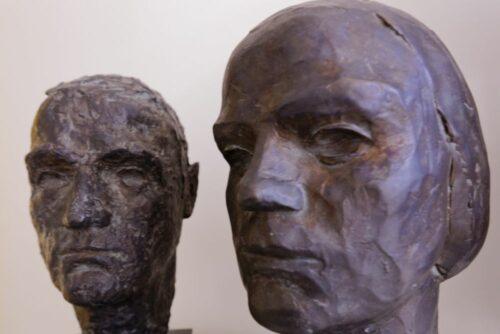 Hans und Sophie Scholl - posthume Portraitplastiken von Ottl Aicher. Blogparade #Deutungskämpfe