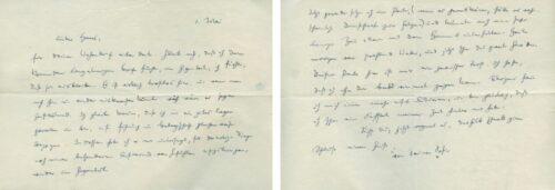 Brief von Sophie Scholl an Hans Scholl vom 1. Mai 1941 aus dem Arbeitsdienstlager Krauchenwies. IfZArch ED 474/69. Blogparade #Deutungskämpfe